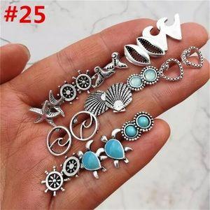 Jewelry - 💛🏝🐠🐳💙12 pair earring set